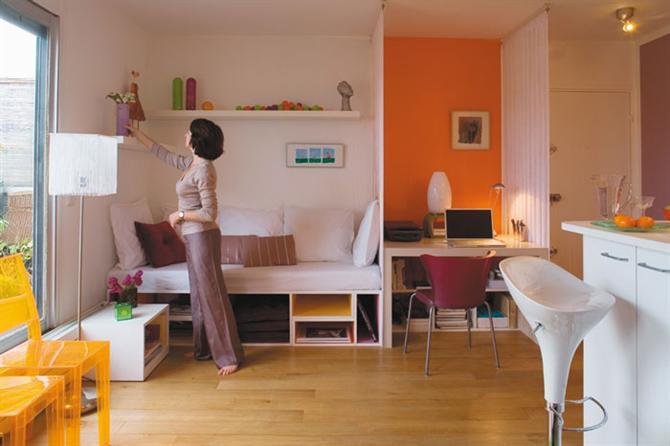 Căn hộ một phòng đầy đủ chức năng dù chỉ 28m2