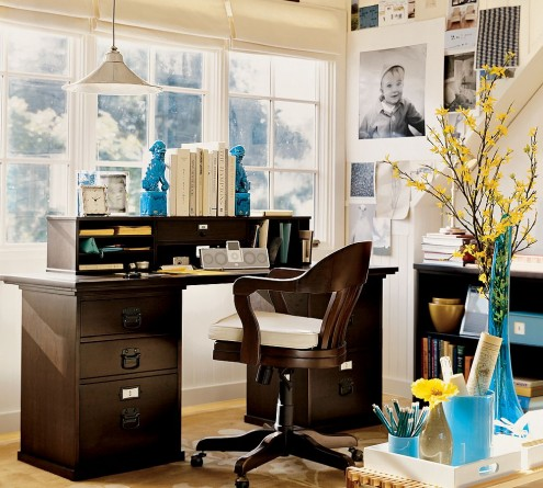 Classic Small Office Interior Design Simple View
