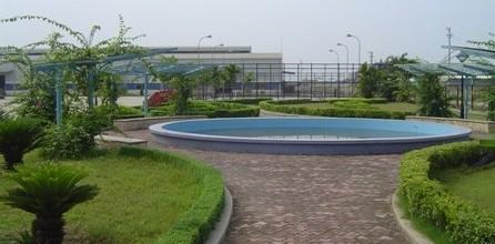 Sân vườn nhà máy nội thất Fami