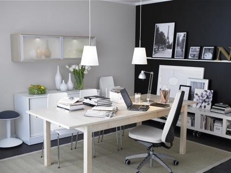 Glamor Small Office Interior Design View
