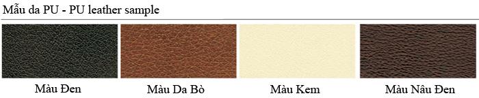 Mẫu màu da PU ghế nội thất 190