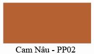 Mầu màu Cam Nâu PP02 Nội thất 190