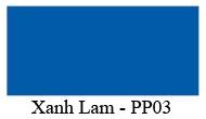 Mầu màu Xanh Lam PP03 Nội thất 190