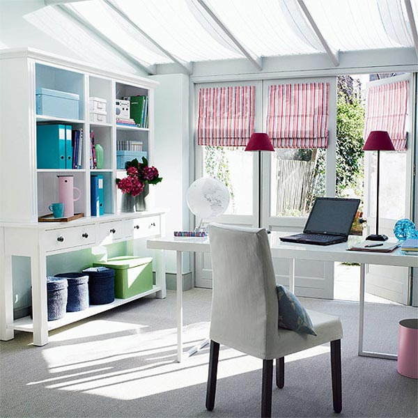 White Small Office Interior Design View